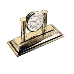El Casco Gold Clock with Pen Holder