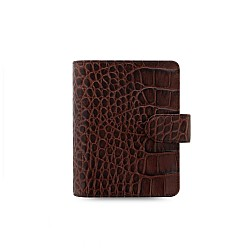 Filofax Classic Croc Chestnut Pocket Organizer