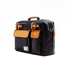Venque Milano Black Briefcase